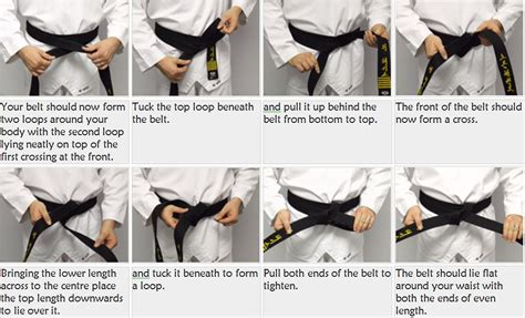 how to tie your belt dove taekwondo