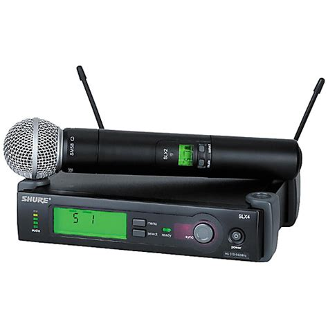 Shure Slx 24beta58 Wirelees Microfone shure slx24 sm58 wireless microphone system guitar center