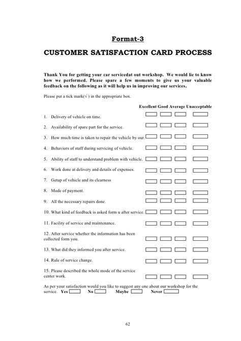 Customer Satisfaction Letter Format For Vehicle Service Quality And Consumer Satisfaction For Maruti Service Center