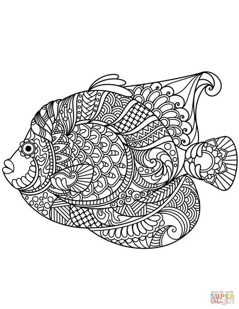 Coloring Page Zentangle by Free Zentangle Coloring Pages Sketch Coloring Page