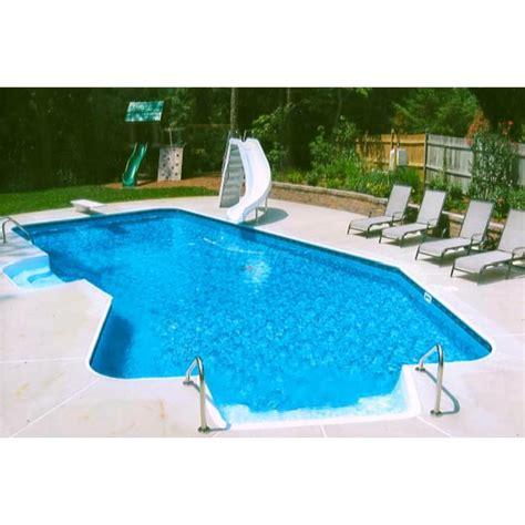 lazy l pool 16 x 32 ft lazy l 2 ft radius inground pool basic package