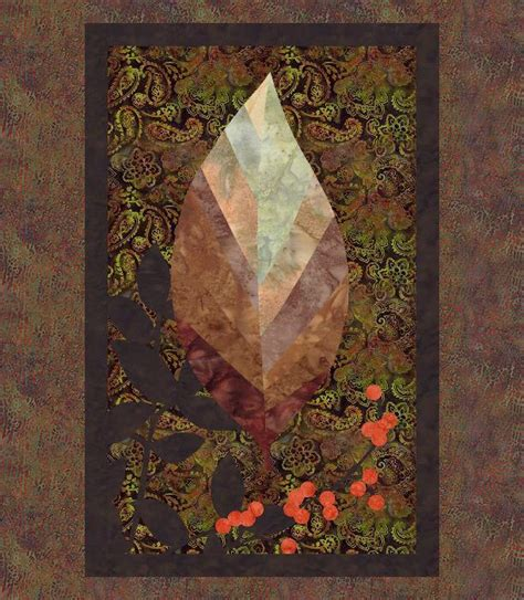 autumn leaf fall quilt wall hanging by quiltfusion craftsy