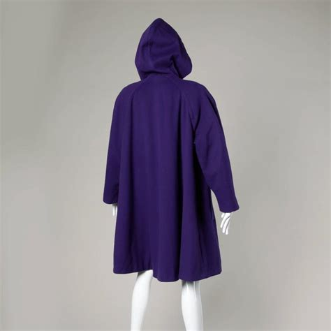 swing coat with hood bill blass vintage 1980s color block swing coat with a