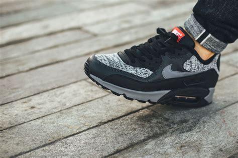 nike air knit nike air max 90 essential black grey sneaker bar detroit