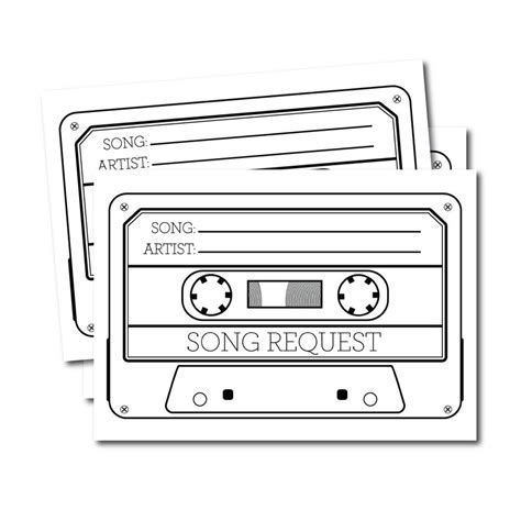 20 X Song Request Cards Wedding Dj Cards Song Request Dj Song Request Template