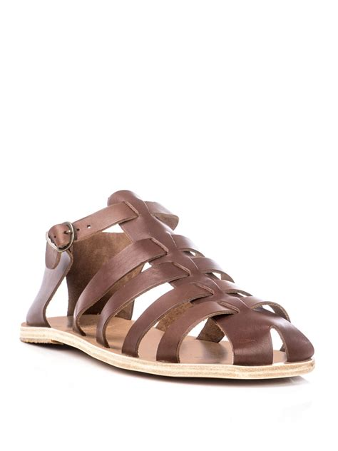 ancient sandal lyst ancient sandals homer sandals in brown for
