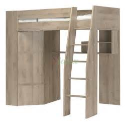 loft bed closet timber kids loft bunk beds with desk closet gautier gami