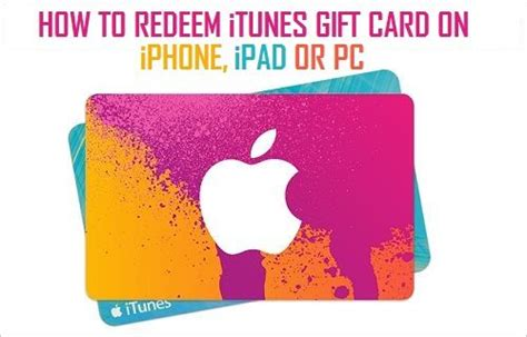 How To Use Gift Card Itunes - how to redeem itunes gift card on iphone ipad and pc