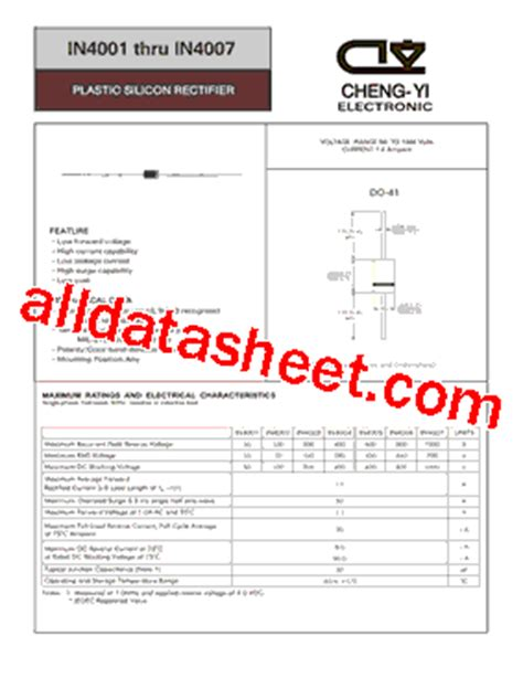 in4003 diode datasheet in4007 diode datasheet 28 images general purpose diode 1n4001 australia diodes in4007