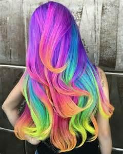 rainbow hair colors 1000 ideas about rainbow hair colors on