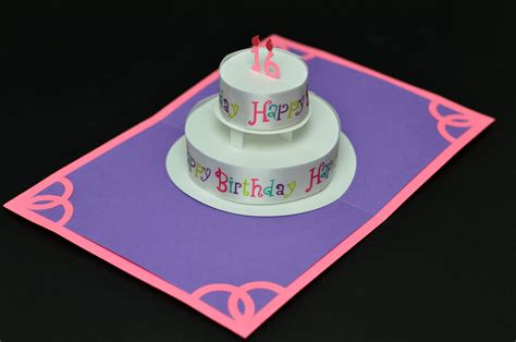 Birthday Cake Popup Card Template by Birthday Cake Pop Up Card With Quot Happy Birthday