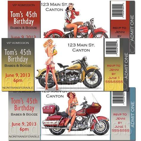 Harley Davidson Invitations by Harley Davidson B Day Invites Harley Davidson