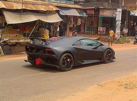 indian car on road dc lamborghini sesto elemento replica hits the streets of