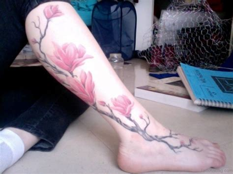 leg flower tattoo 94 best leg tattoos