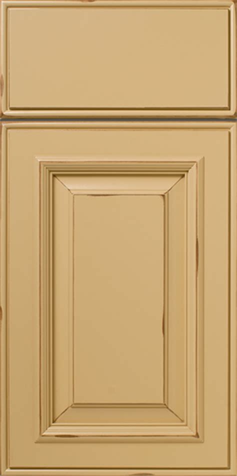 painted antiquied applied molding cabinet door with rub