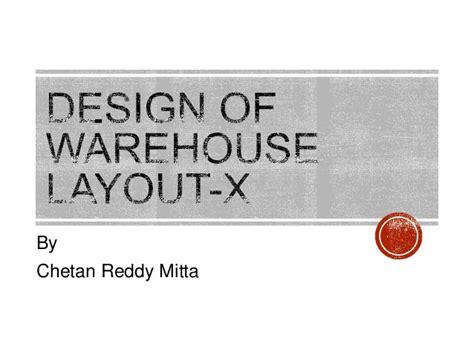 warehouse layout slideshare warehouse layout design