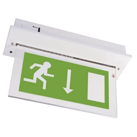 Hanelle Exit channel vale white maintained led emergency exit sign