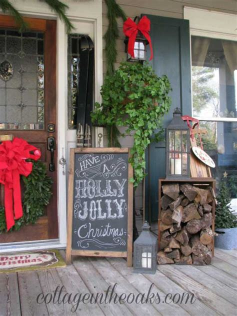 cool diy decorating ideas for christmas front porch
