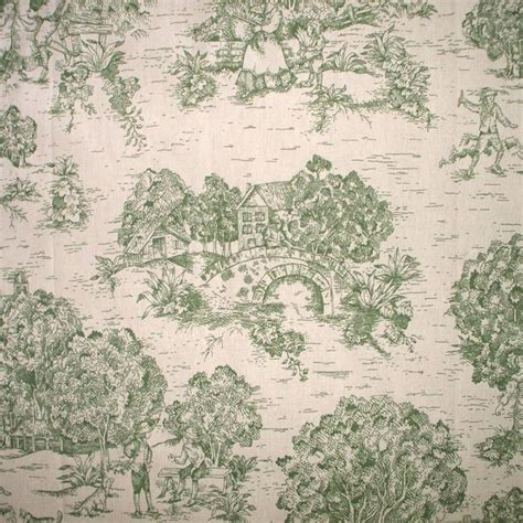 Toile Curtains Green New Country Toile Green Duvet Cover Cotton Reversible Ebay
