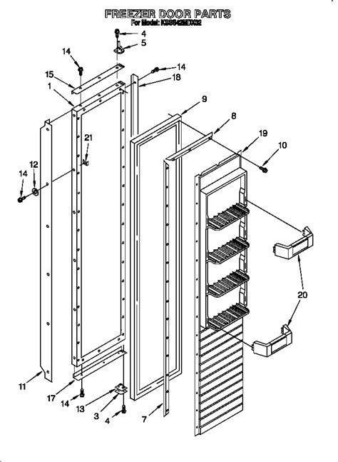 kitchenaid superba refrigerator parts diagram kitchenaid superba kitchenaid superba refrigerator parts