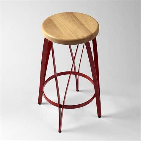 ribbon bar stool counter stool tomato west elm