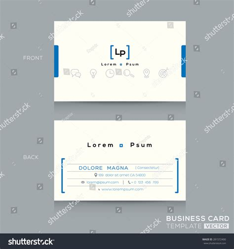 shutter card template free minimal clean design business card template stock vector