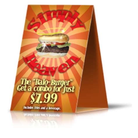 plastic table tent cards table tents printing custom printed table tents cards