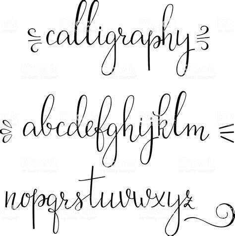Modele Calligraphie Alphabet Gratuit