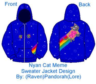 Meme Jacket - meme nyan cat jacket design by ravenpandorah on deviantart