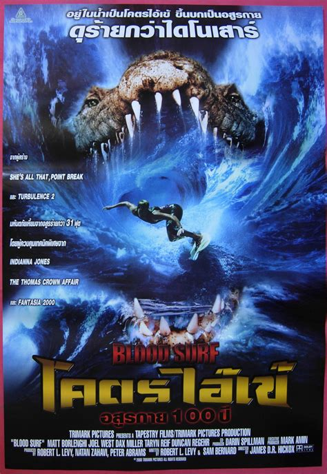 streaming film horror thailand blood surf thai movie poster 2000 horror crocodile ebay