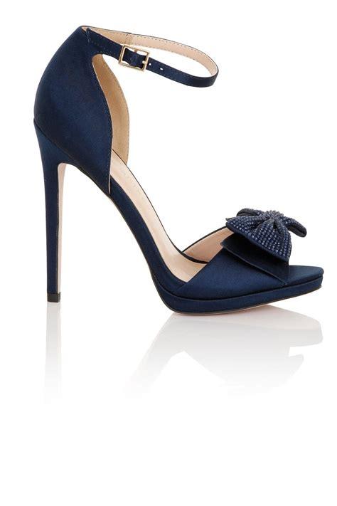 navy heeled sandals footwear hera navy satin heeled sandals