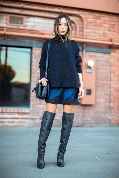 8 Ways To Wear Metallics by 8 Ways To Wear Dresses In Winter The Everygirl