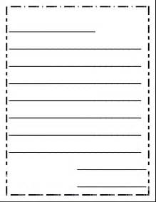 letter writing template for grade letter writing paper formal letter template
