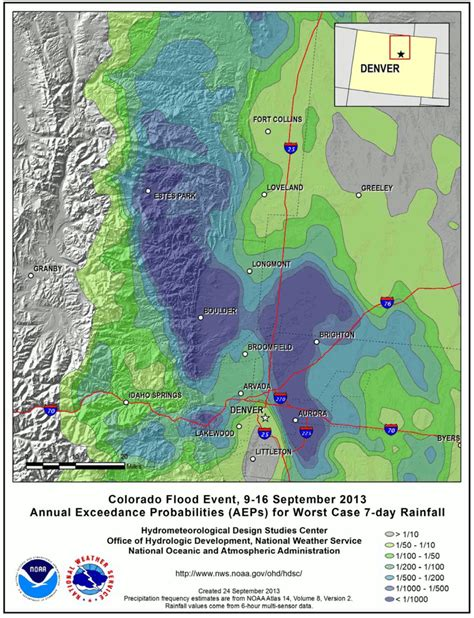 design rainfall event colorado 7 day rainfall event v annual maps on the web