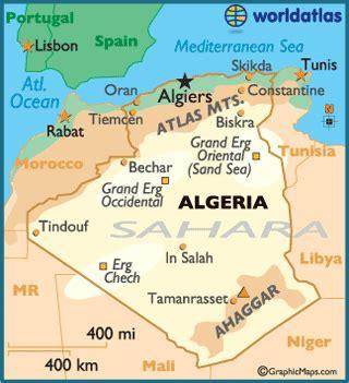 algeria map with cities algeria map