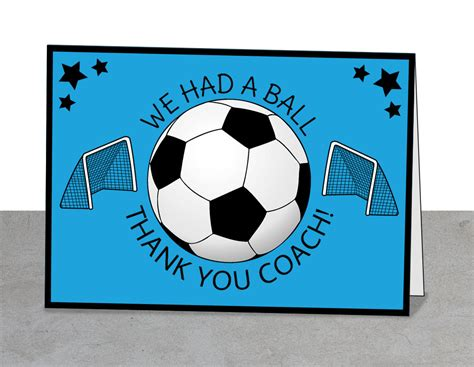thank you card for a track and field coach baseball coach soccer