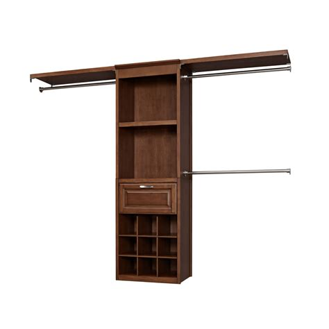 Allen Roth Closet Organizer shop allen roth 8 ft wood closet kit at lowes