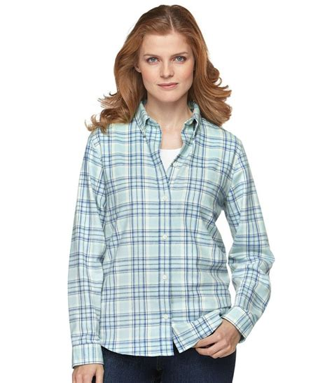 Ll Bean Womens No Iron Blouses by Kingfield Flannel Shirt Button Front Free Shipping At L