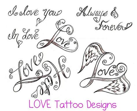 love word tattoo designs simple designs simple