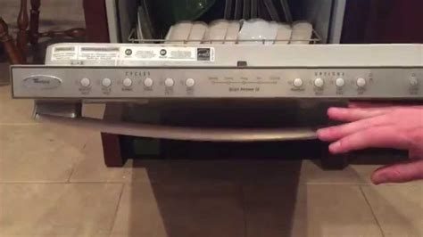 whirlpool dishwasher no lights panel how to replace the board in a whirlpool gold