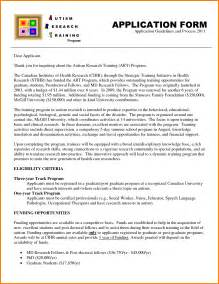 Writing A Cover Letter For A Application Exles by 7 How To Write A Application Letter For