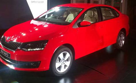 skoda car india price skoda rapid facelift launched in india prices start at rs