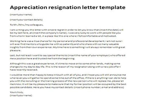 appreciation letter to employee after resignation thankful letter of resignation resume layout 2017