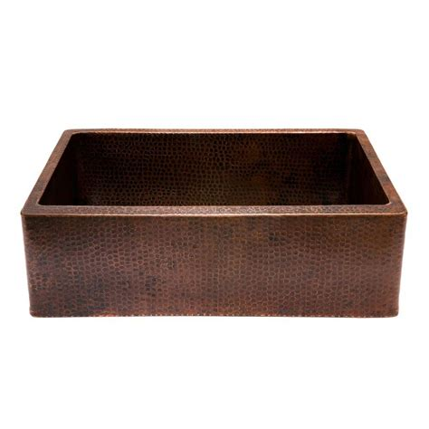 Copper Apron Sink by Premier Copper Products Undermount Hammered Copper 30 In