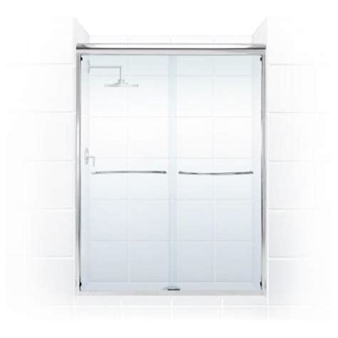Towel Bar For Glass Shower Door Coastal Shower Doors Paragon 3 8 Series 60 In X 71 In Semi Framed Sliding Shower Door With