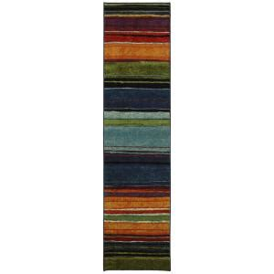 mohawk home rainbow multi 2 ft x 8 ft rug runner 183288