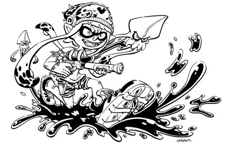 Splatoon 2 Coloring Pages by Splatoon Coloring Pages Coloring Pages