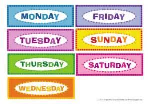 days of the week kindergarten worksheets kelpies