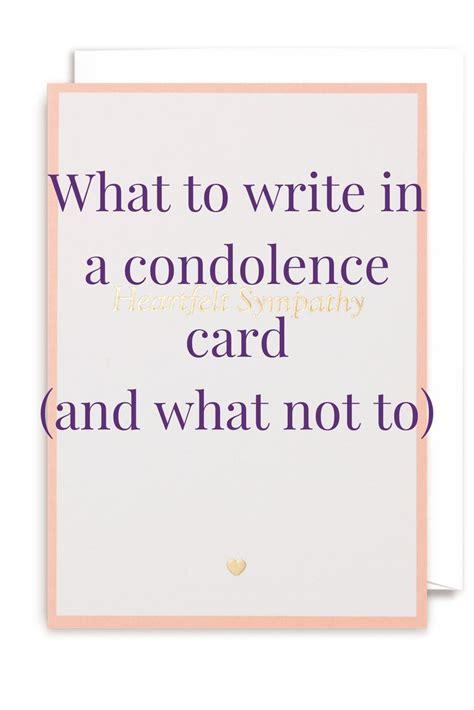 Condolences For Cards