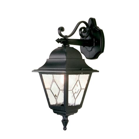 Traditional Outdoor Wall Lights Uk Traditional Black Garden Wall Light Leaded Glass Will Fit Onto Corner